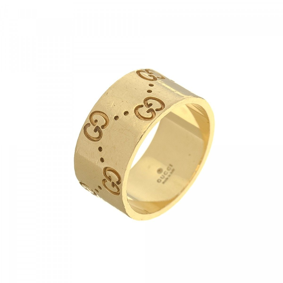 Gucci Icon Gold Ring US 625It 13 18K Yellow Gold  LXRandCo  PreOwned Luxury Vintage