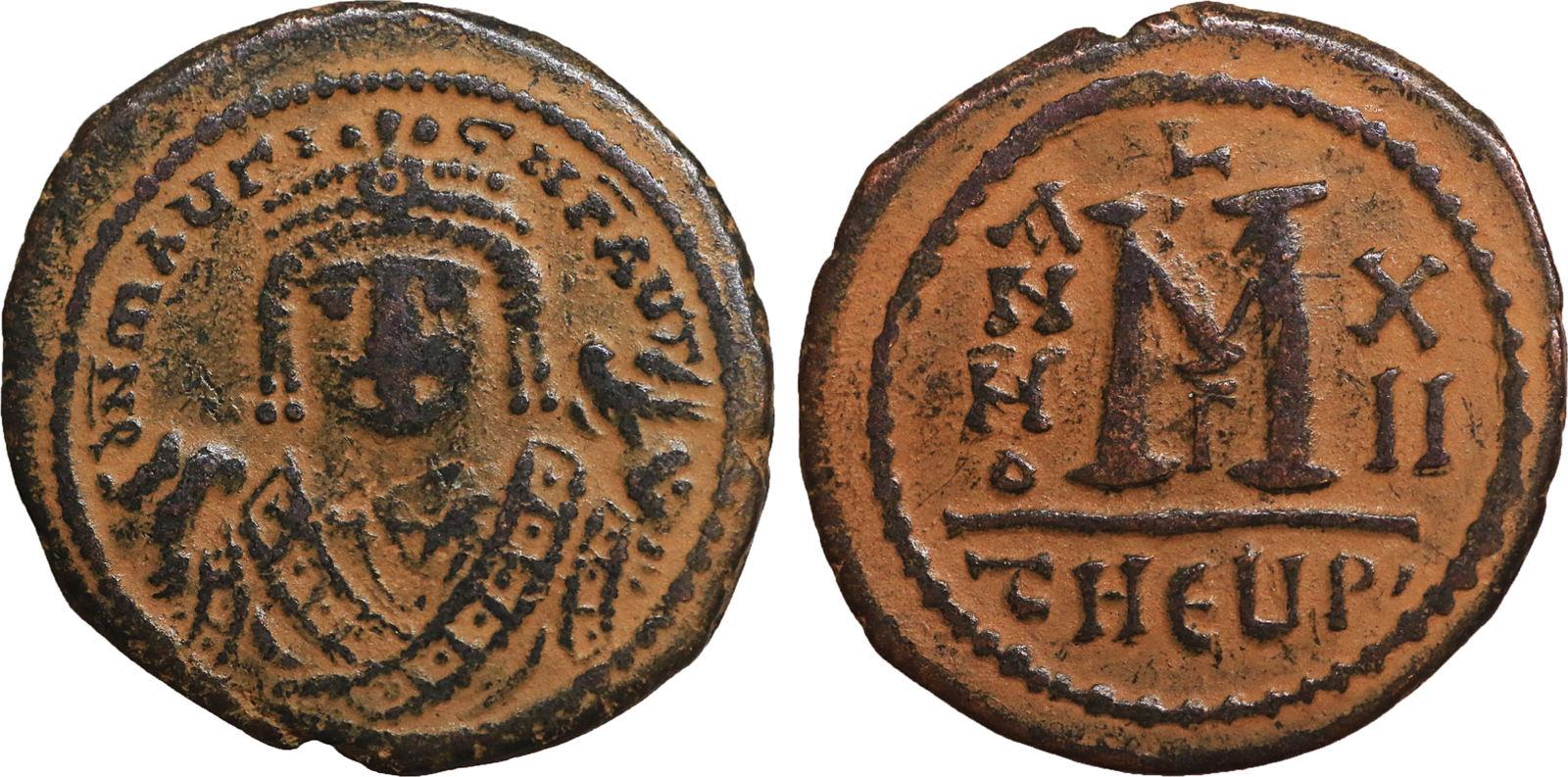 Follis Ad 582 602 Byzantine Empire Byzantinisches Reich