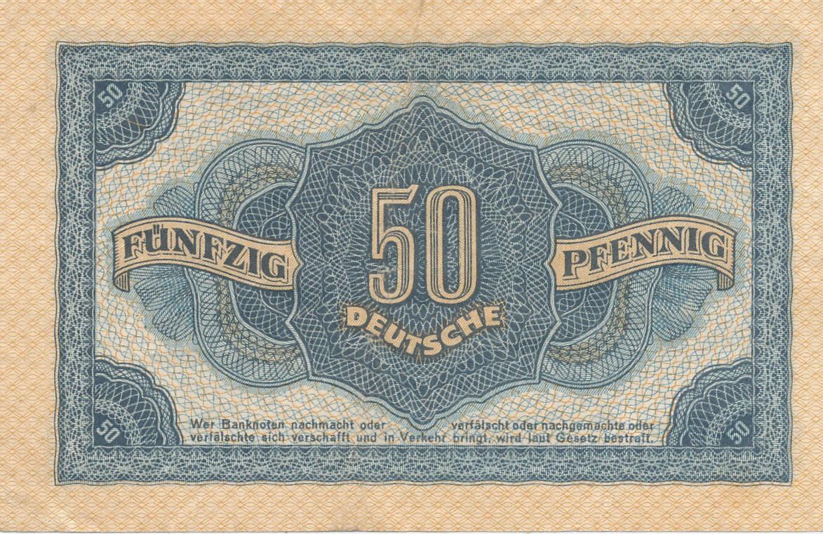 50 Pfennig 1948 Deutschlandddr Ro339b Kn 6stelligserieff Vf