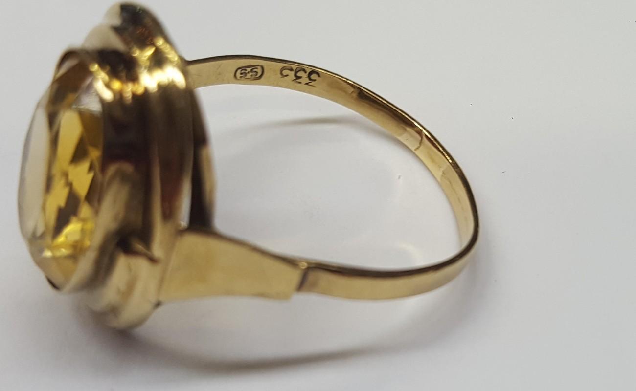 8 Karat Citrinring Goldring 333er Gold Ring Citrin Gelbgold Damenring