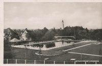 Ansichtskarte 1942 Deutsches Reich Langenau, Schwimmbad ...