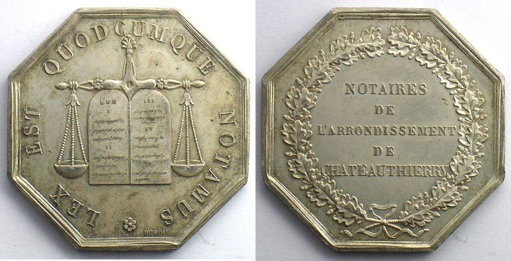Jeton Tokens And Medals Numismatique Du Notariat Français
