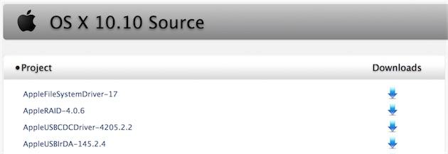 Apple publie les composants open-source d'OS X Yosemite