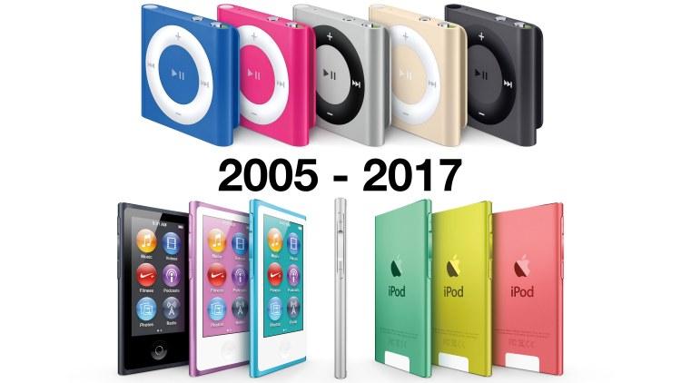 iPod nano、iPod shuffle 於今日在蘋果官方網站正式下架
