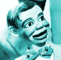 Ventriloquist dummy manipulated