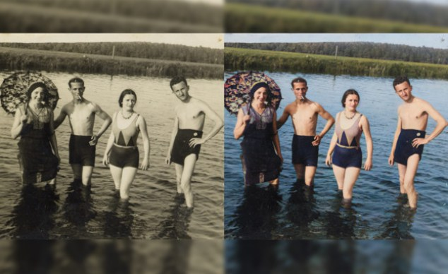 Artificial intelligence returns color to old images