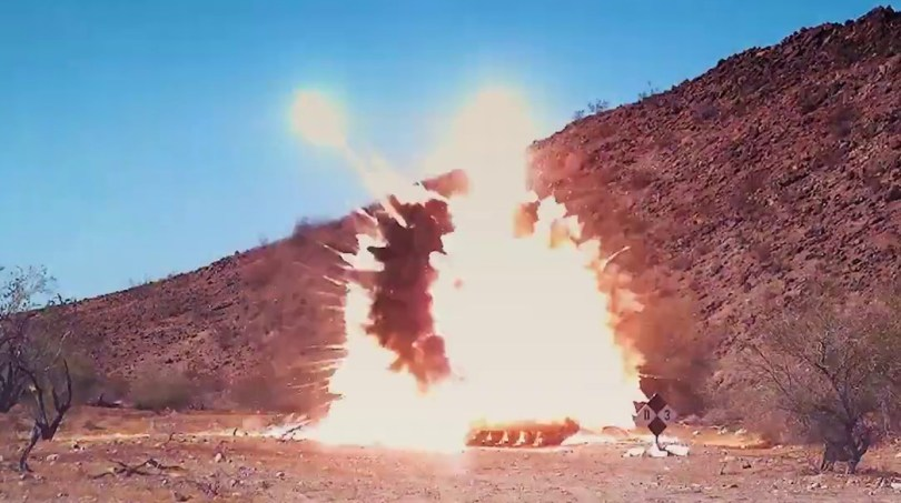 Le missile frappe (Photo: USArmy, YouTube)