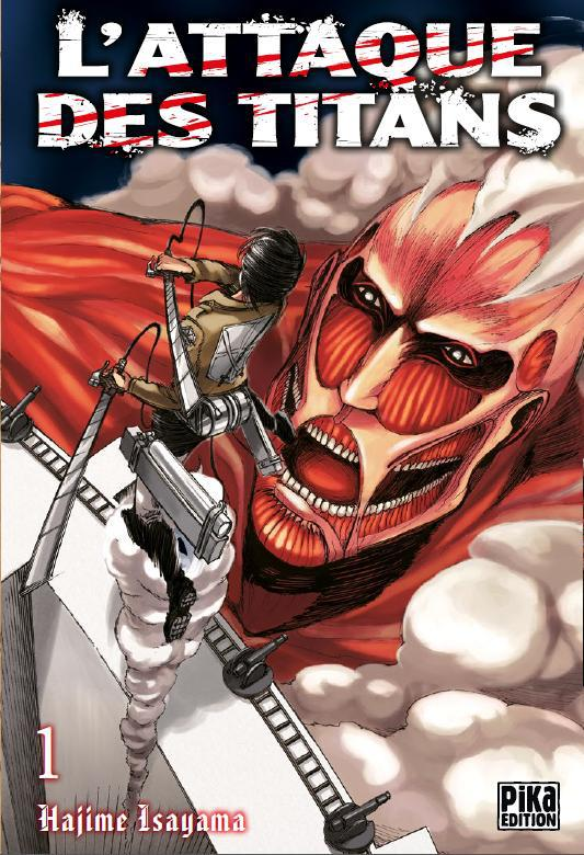 un titan rouge face à un guerrier
