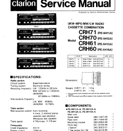 clarion crh70 service manual [ 2650 x 3748 Pixel ]