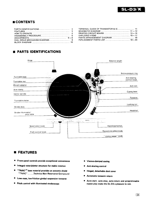 small resolution of technics sl 1600 mk2 turntable service manual supplement