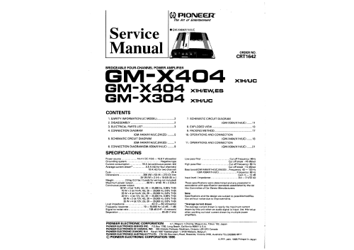 small resolution of pioneer gmx404 service manual