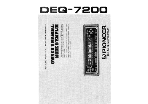 small resolution of pioneer deq 7200 owner s manual