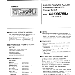 Clarion Dxz375mp Car Radio Wiring Diagram 2001 Nissan Sentra Stereo Drx6675rz Service Manual Immediate Download