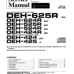 Pioneer Cd Changer Wiring Diagram Mallory Distributor Unilite Deh425 Service Manual Immediate Download