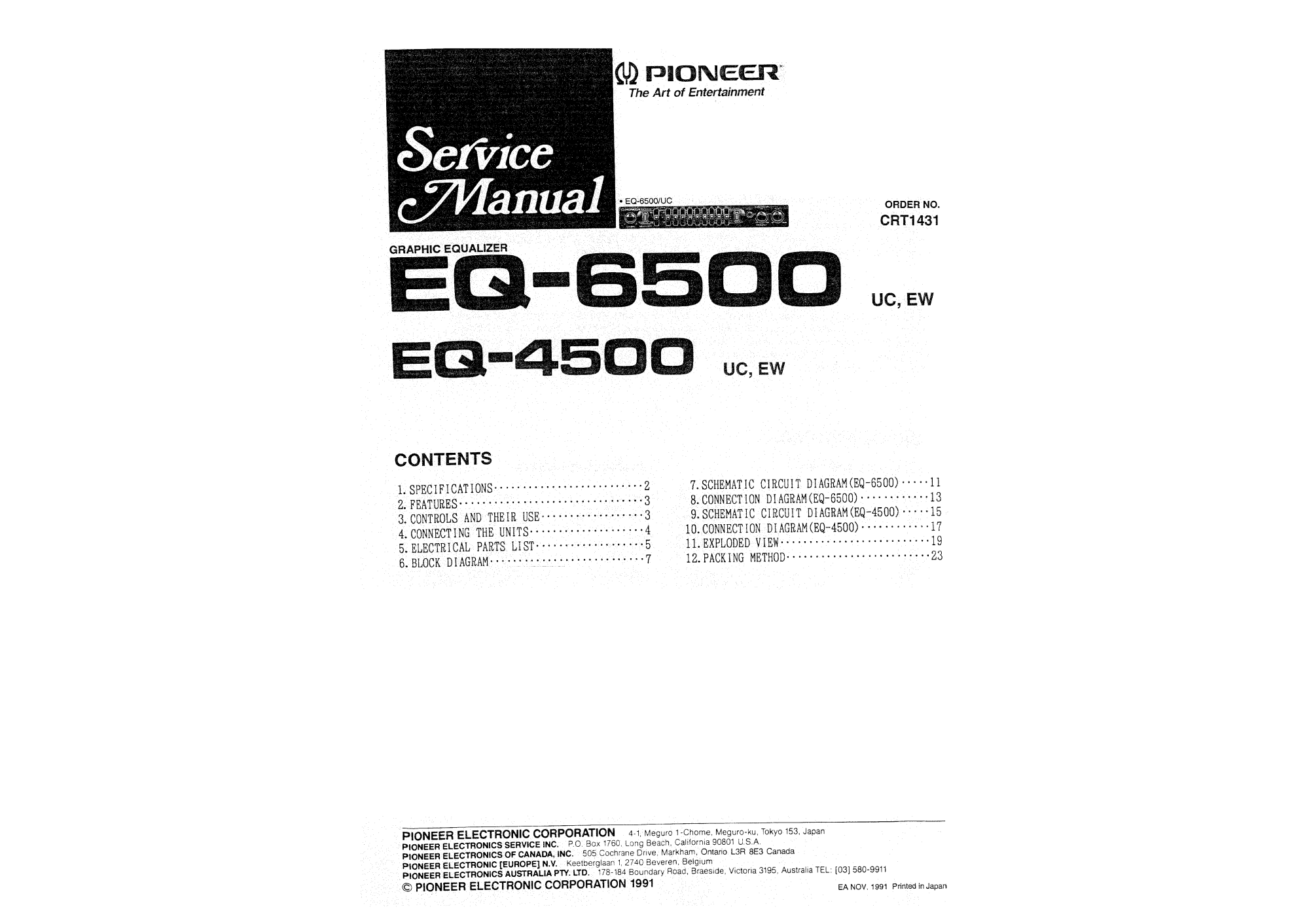 hight resolution of pioneer eq 6500 uc ew service manual immediate download pioneer deh p6500 pioneer eq 6500 service manual