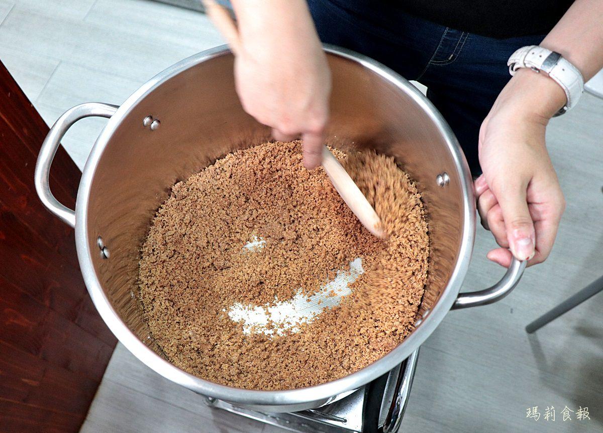 茶覓,台中南屯飲料,黑糖加二砂現場手工炒糖