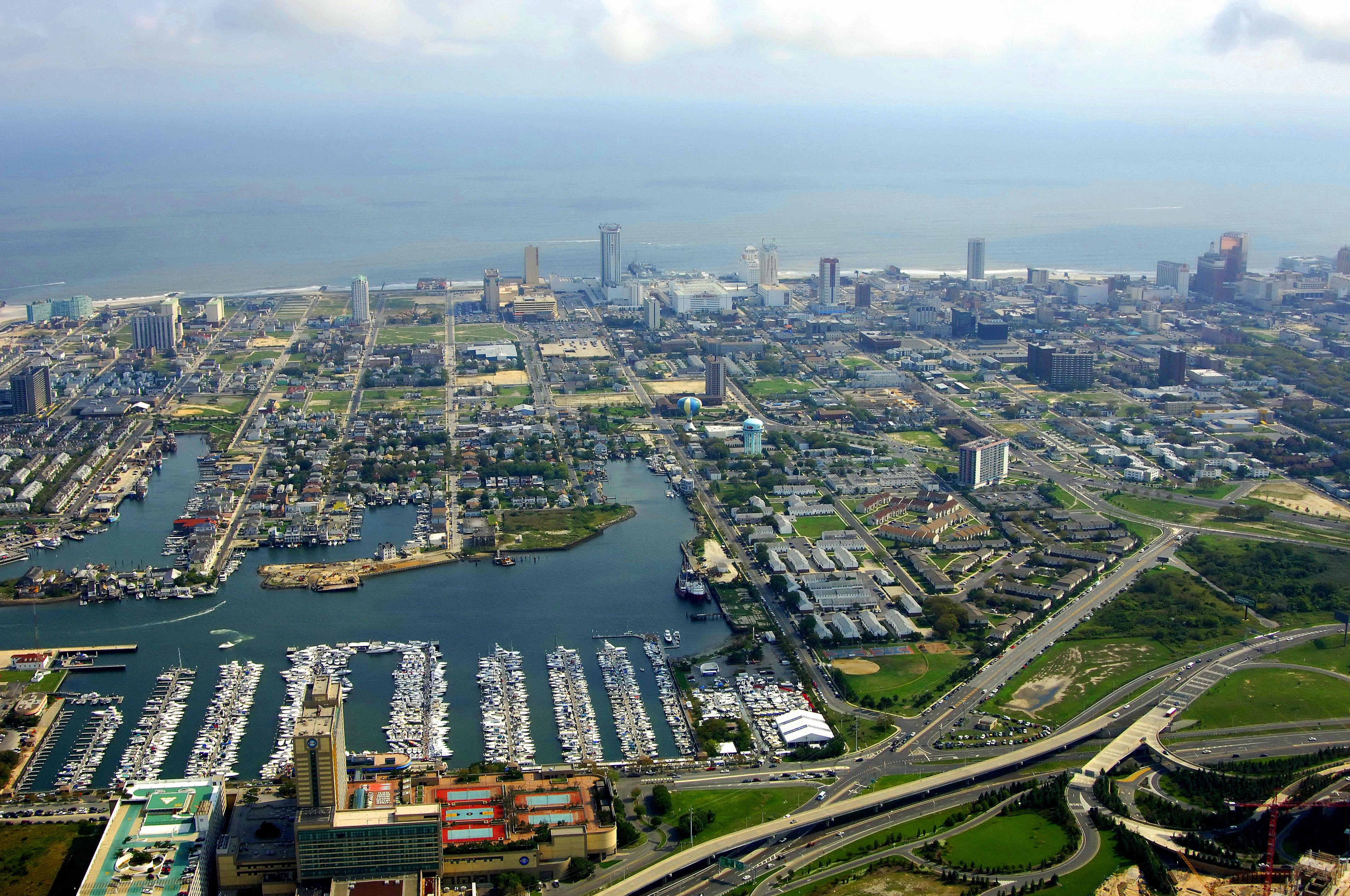Atlantic City Harbor In Atlantic City NJ United States