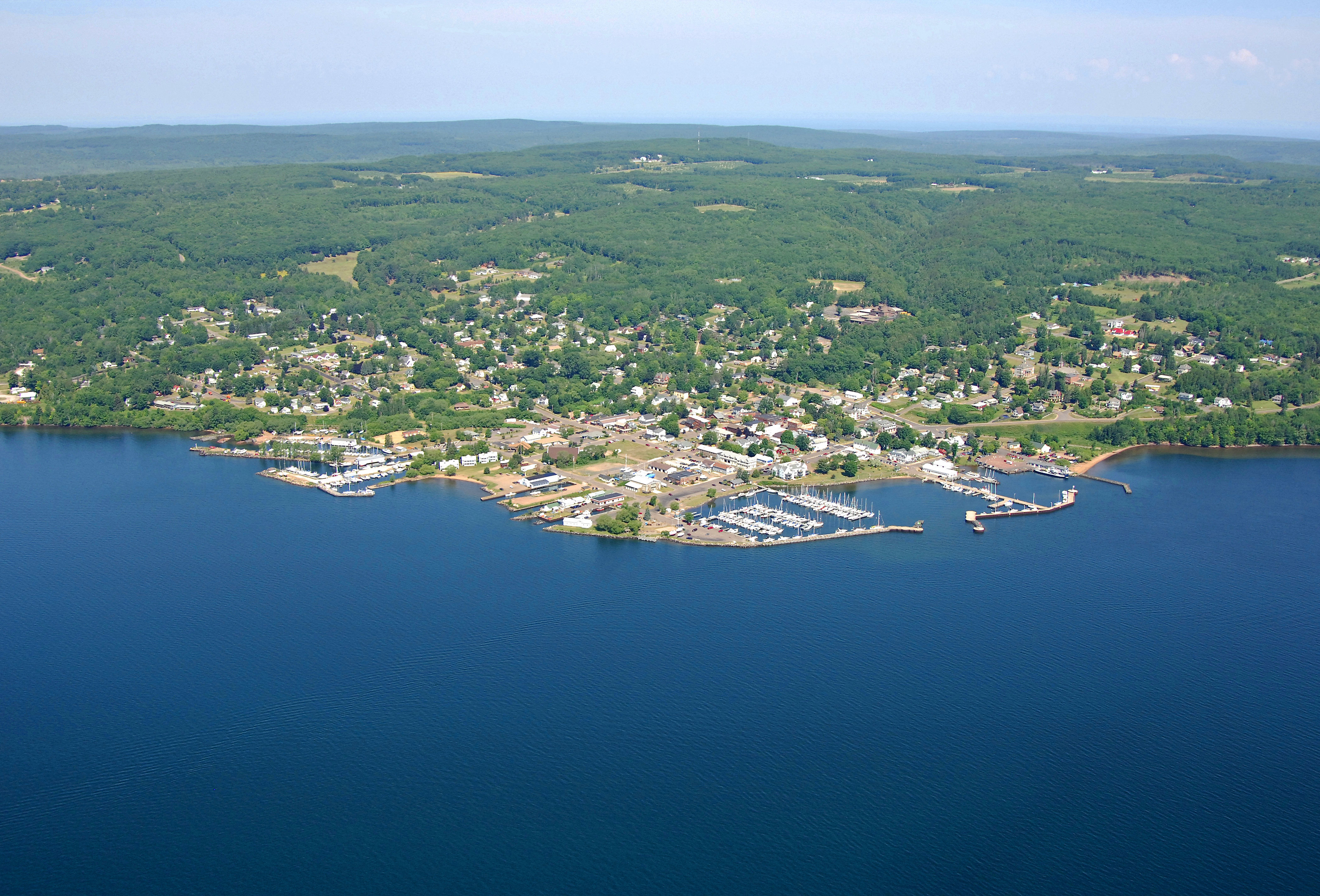 Bayfield Harbor In Bayfield WI United States Harbor
