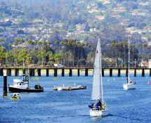 Santa Barbara Harbor In Ca United States