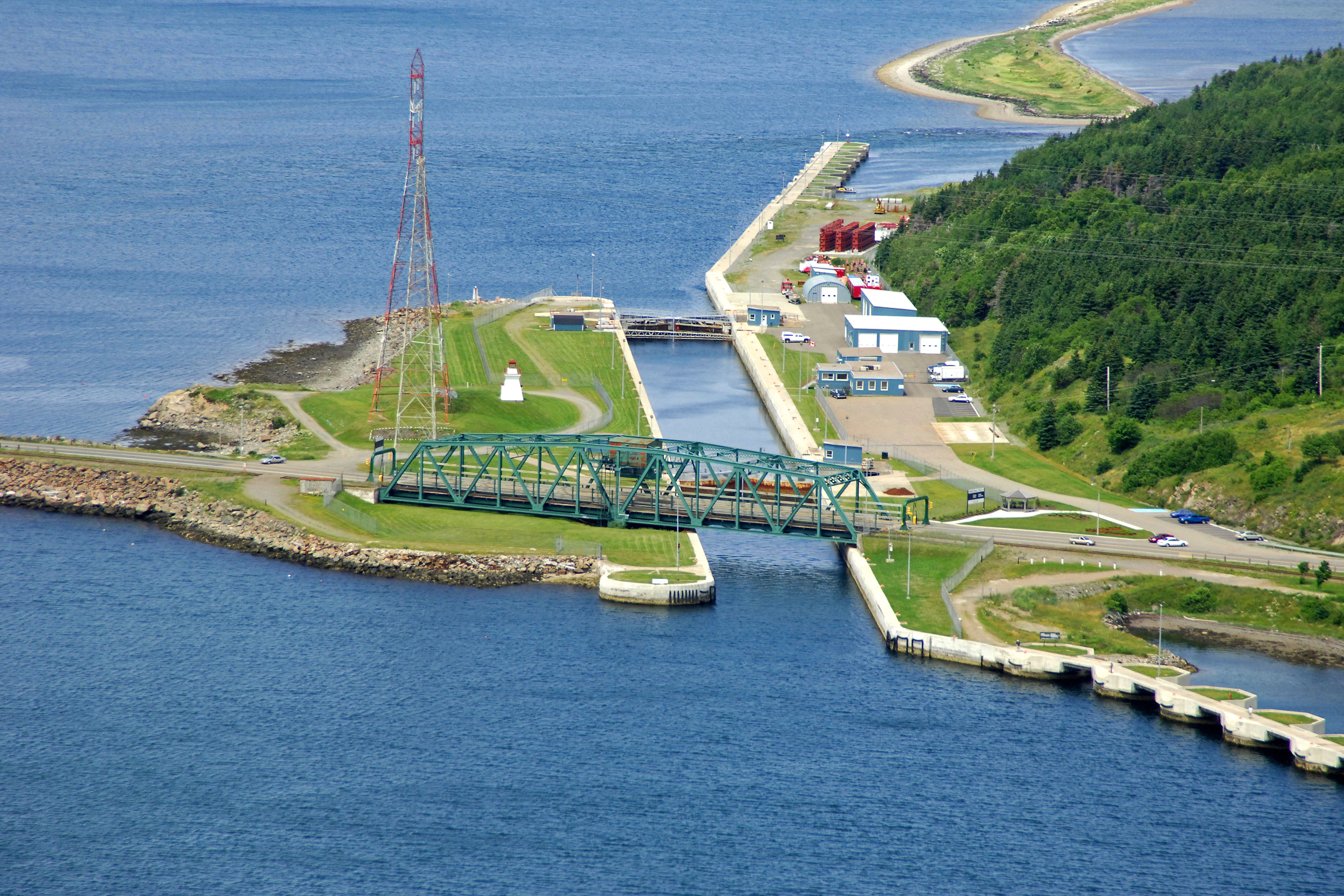 Canso Causeway Swing Bridge In Port Hastings NS Canada