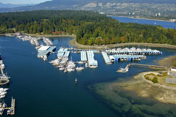 Royal Vancouver Yacht Club Coal Harbour In BC Canada