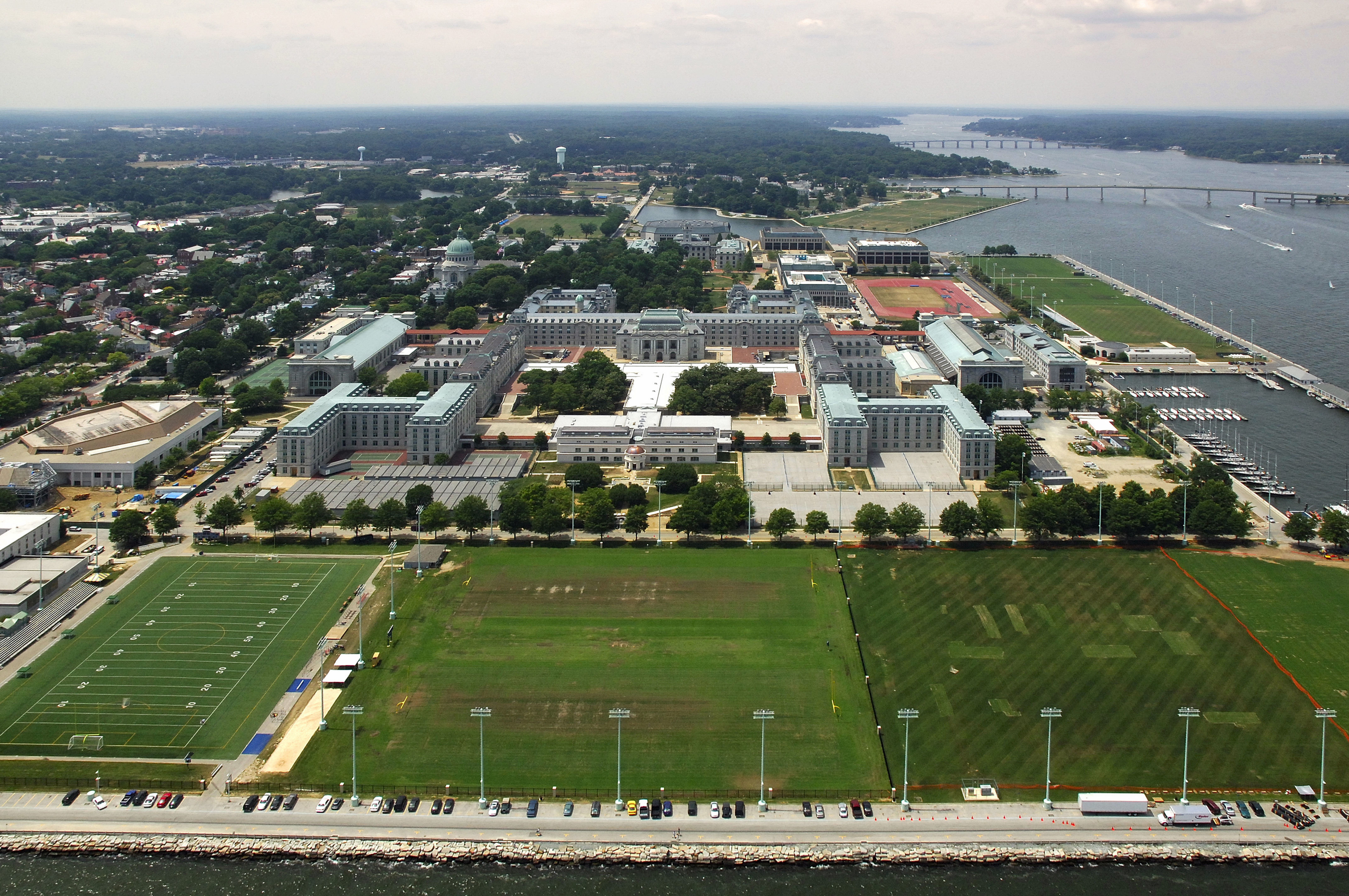 US Naval Academy Harbor In Annapolis MD United States