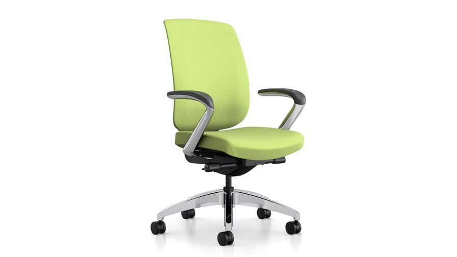 allsteel access chair ergonomic back support office with armrests on casters height adjustable