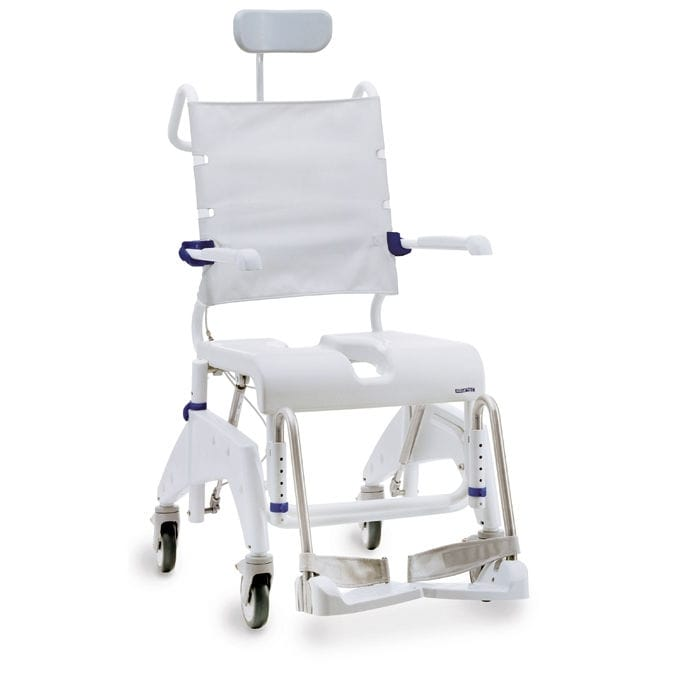 invacare shower chair electric prop kit on casters with cutout seat aquatec ocean vip
