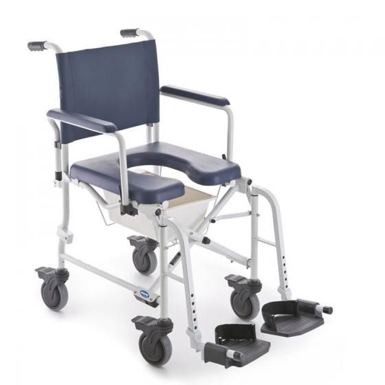 invacare shower chair cost to rent chairs for wedding on casters with bucket lima 5