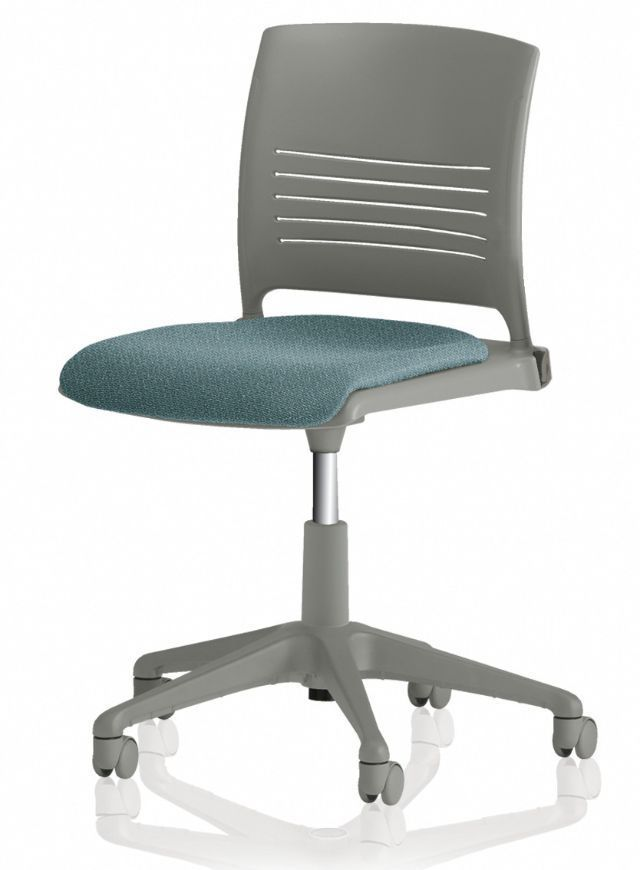 ki strive chair baby bjorn high red and black office with armrests on casters height adjustable