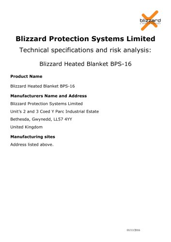 blizzard protection systems limited