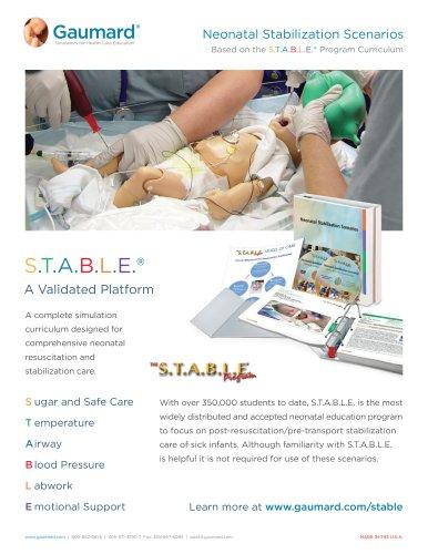 Neonatal Stabilization Scenarios S.T.A.B.L.E.® - Gaumard - PDF Catalogs | Technical Documentation