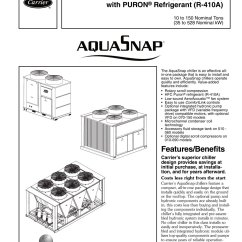 Carrier 30ra Chiller Wiring Diagram For Three Phase Motor 30rap Aquasnap Commercial Pdf Catalogs Technical 1 88 Pages