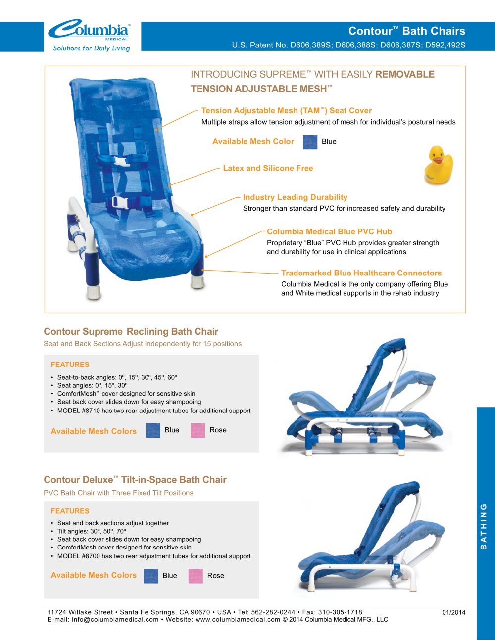 columbia medical bath chair reclining outdoor chairs canada contour inspired pdf catalogs technical 1 2 pages