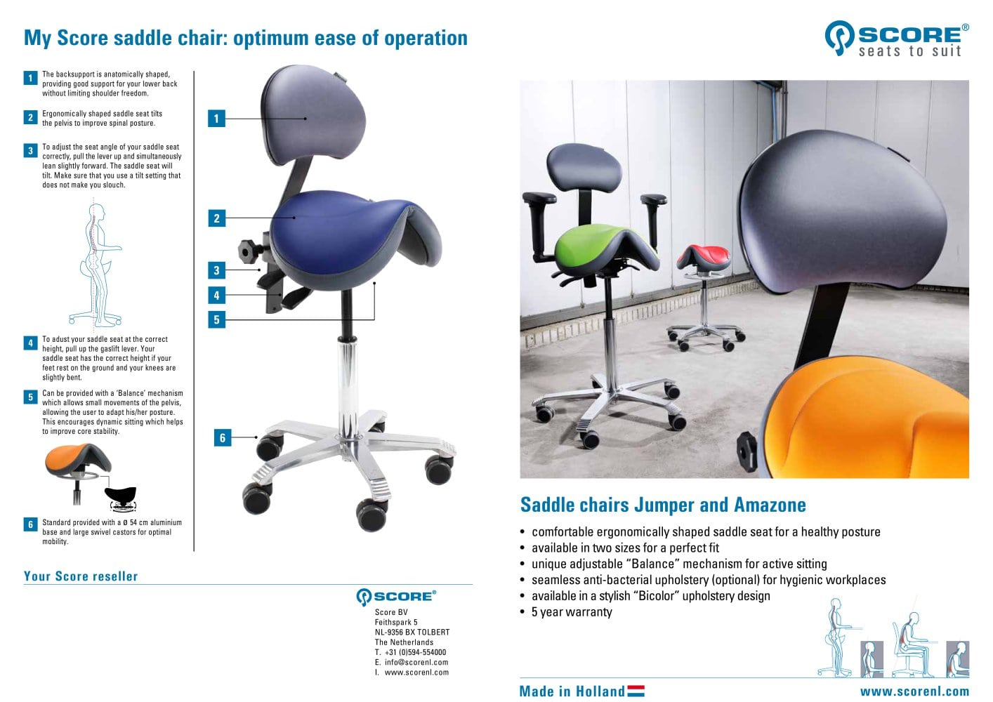 balance posture chair wheel for dogs score saddle seat bv pdf catalogs technical documentation 1 2 pages