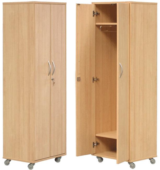 armoire de rangement de chambre de patient 2 portes sur roulettes h 853