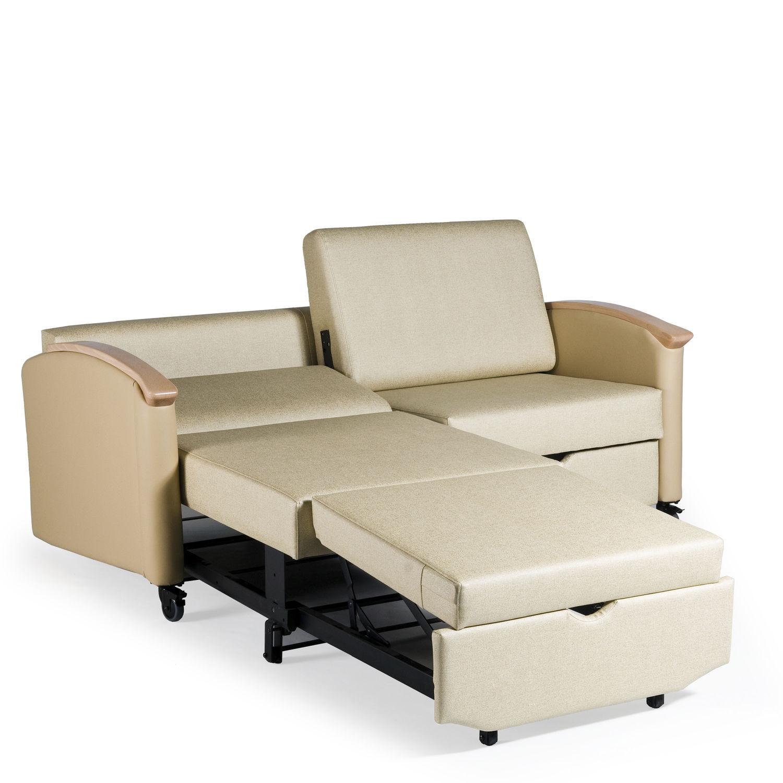 canape lit pour chambre de patient 2 places