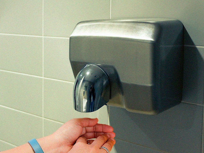Hand Dryers Blow Bacteria Into Air Spread Germs
