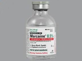Marcaineepinephrine (pf) 05 %1200,000 Injection