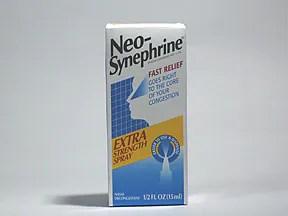 Neo-Synephrine (Phenylephrine) Nasal: Uses Side Effects ...