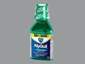 Vicks Nyquil Nighttime Relief Oral : Uses Side Effects ...