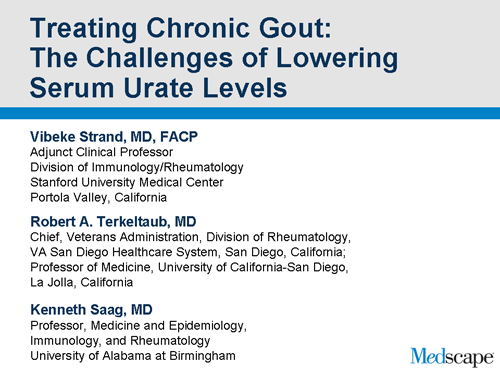 Treating Chronic Gout The Challenges Of Lowering Serum Urate Levels