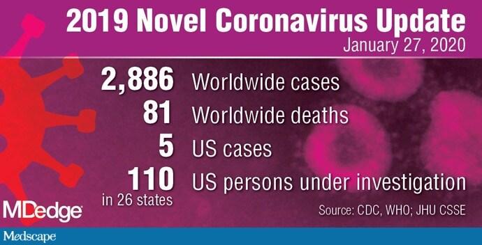 CDC Confirms Five Coronavirus Cases in US