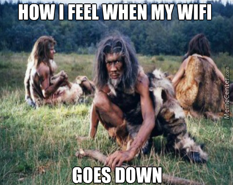 Image result for stone age and wifi
