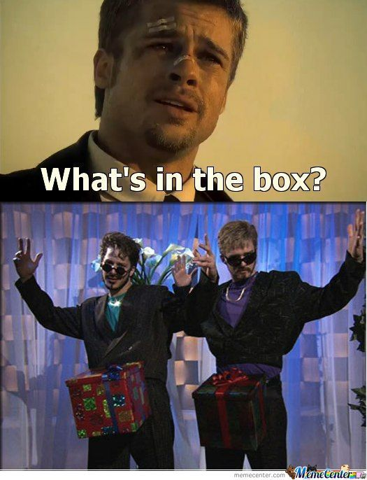 Seven What's In The Box Meme : seven, what's, What's, Raine.miller, Center