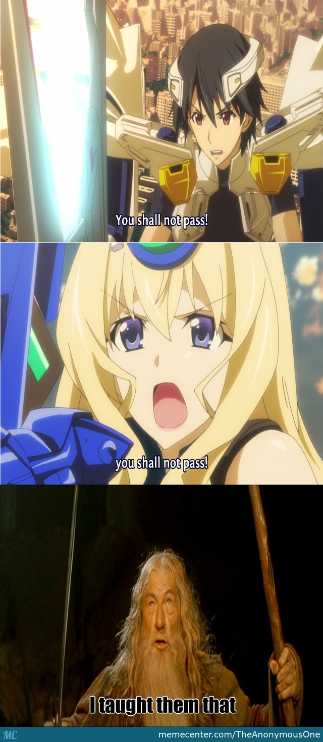 You Shall Not Pass Infinite Stratos Style by