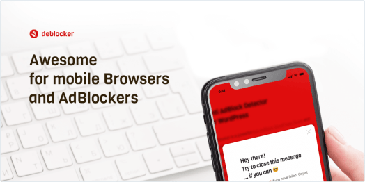 Awesome for mobile Browsers and AdBlockers