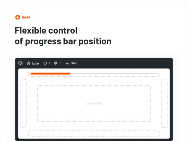 Flexible control of progress bar position