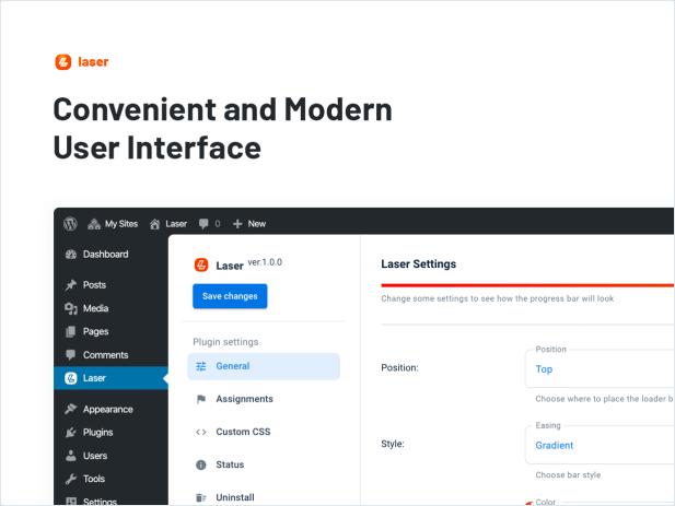 Convenient and Modern User Interface