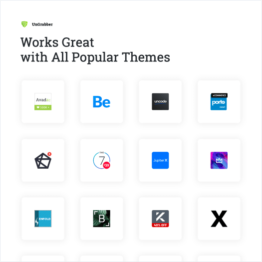 Works Great with All Popular Themes